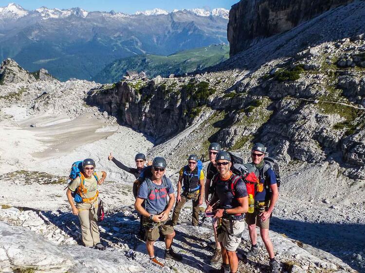 Klettersteig Gehen In Der Brenta Mit Bergfuehrer