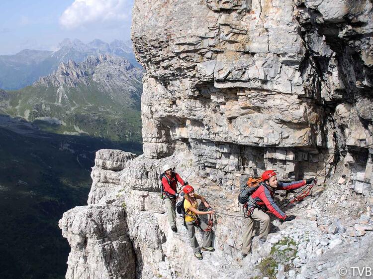 Klettersteig Ilmspitze Im Stubai Am Klettersteigkurs