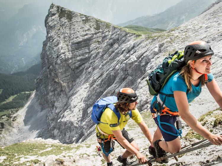 Klettersteig Nordwandsteig An Der Alpspitze