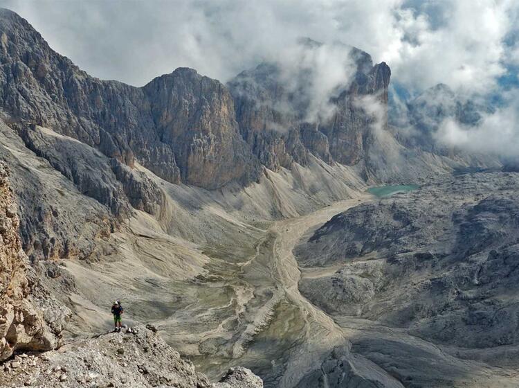 Klettersteig Rosengarten : Klettersteige rund um den rosengarten dolomiten