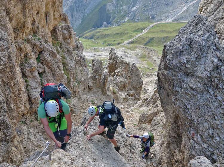 Klettersteige Rosengarten Drahtseil