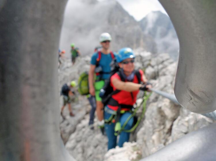 Klettersteige Rosengarten Durchblick