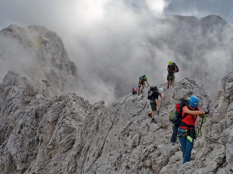 Klettersteige Rosengarten Grat