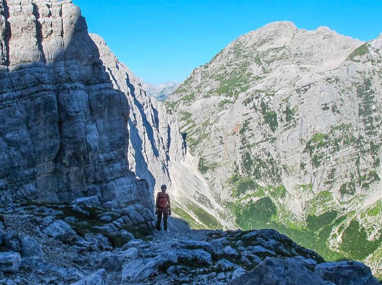 Klettersteigfuehrung Slowenien