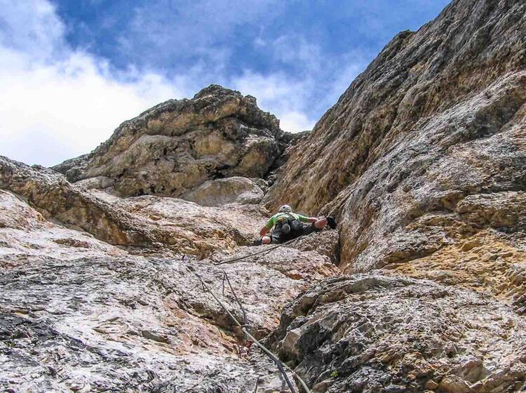 Kletterwoche Dolomiten Gefuehrt