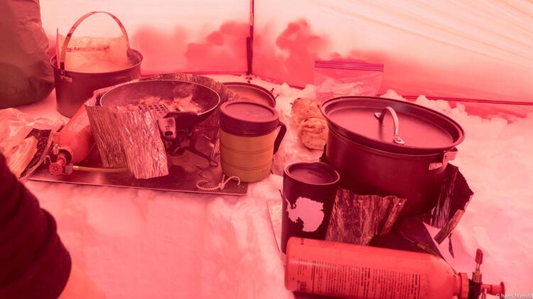 Kochen Im Zelt Wa Hrend Der Su Dpol Expedition