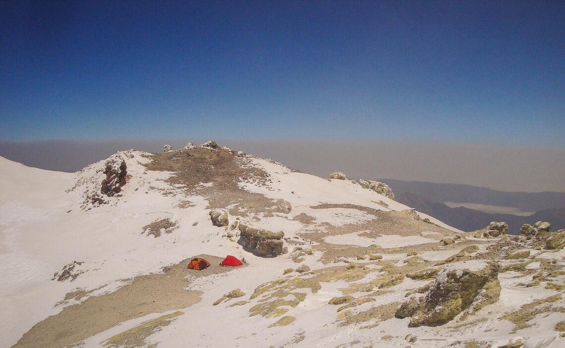 Kraterbereich Am Trekking Damavand