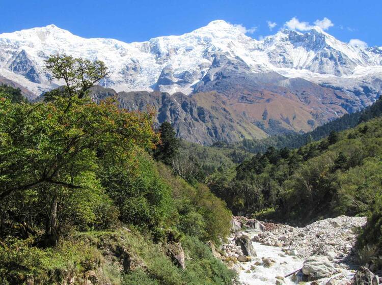 Machha Khola Mit Ausblick Auf Ganesh Himal