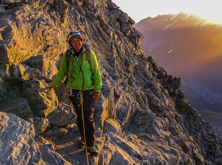 Matterhorn Mit Bergfuehrer