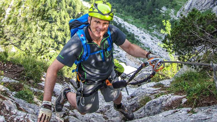 Michael Adelbert Beim Klettersteigkurs An Der Zugspitze