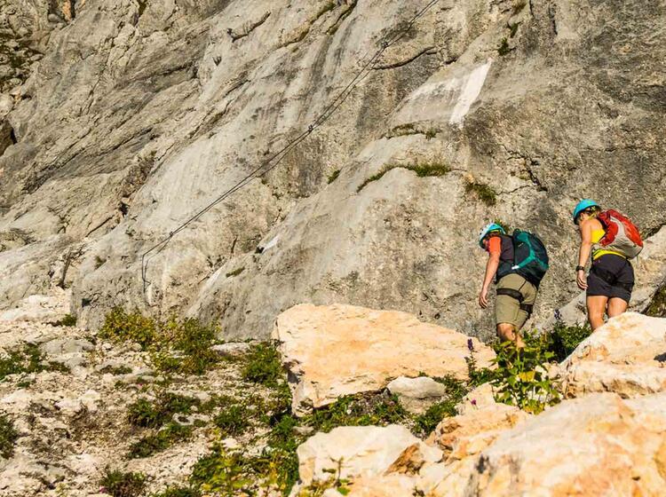 Mit Bergfuehrer Auf Den Untersberg Ueber Den Klettersteig