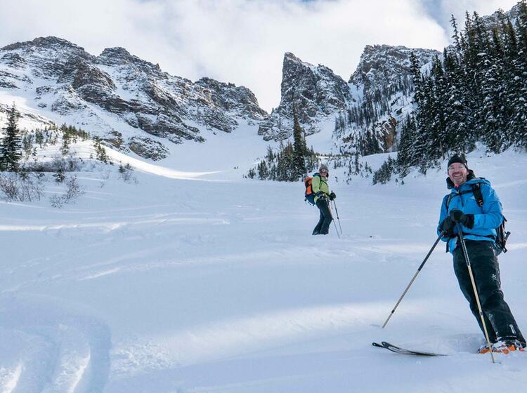Mit Bergfuehrer Nach Kanada Zum Skitouren