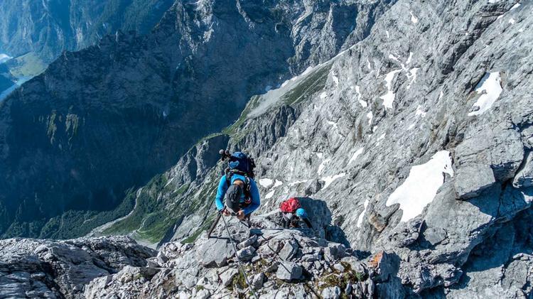 Mit Bergfuehrer Ueber Die Watzmann Gipfel Der Watzmann Ueberschreitung