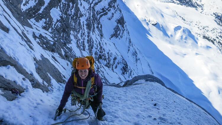 Mit Bergfuehrer Yvonne Koch In Der Eiger Nordwand
