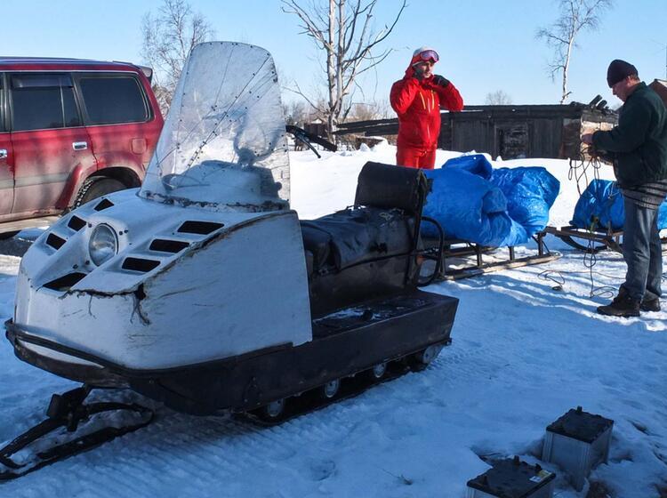 Mit Dem Schneemobil Zum Avacha Camp