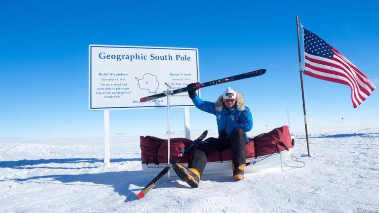 Mit Fischer Ski Am Su Dpol
