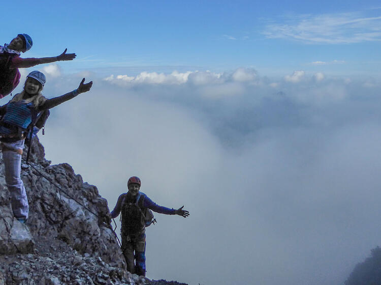 Klettersteig Iseler : Iseler familien klettersteig im allgäu mit bergführer