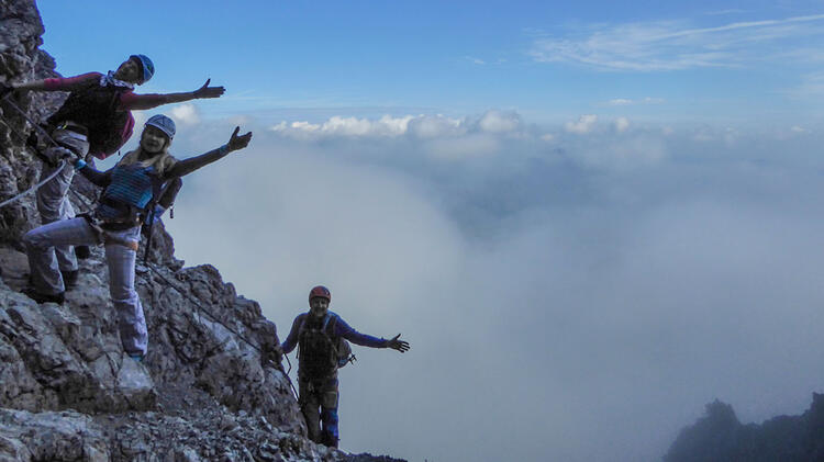 Mit Fuehrer Am Iseler Klettersteig
