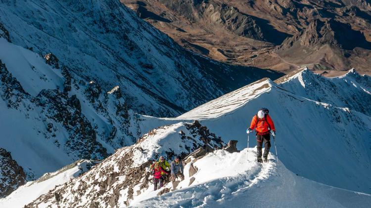 Mit Fuehrer Auf Den Stok Kangri In Ladakh