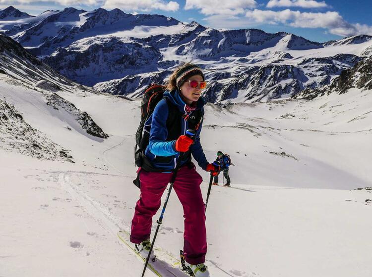 Mit Ski Auf Den Cevedale