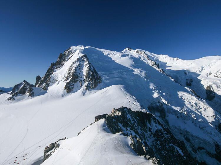 Mont Blanc Mit Bergfu Hrer