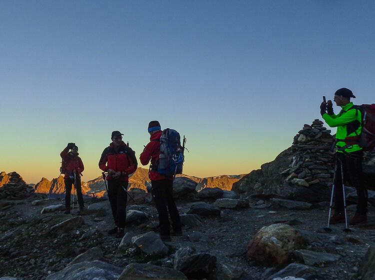 Morgenstimmung Am Mont Blanc Auf Hochtour Mit Bergfuehrer