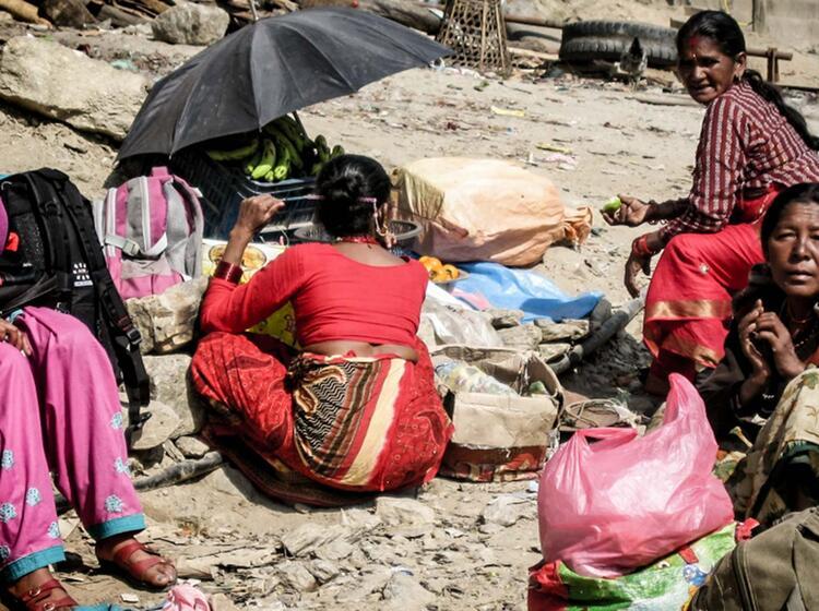 Nepalesische Frauen Beim Waschen