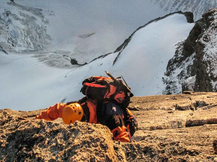 Obergabelhorn Fuehrung Mit Bergfuehrer Der Alpinschule