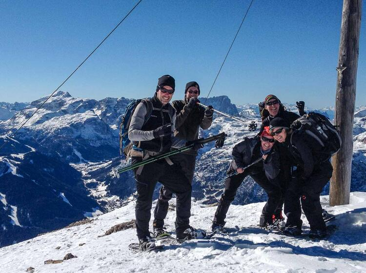 Organisierte Schneeschuhtouren In Den Dolomiten