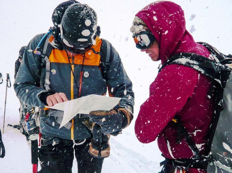Orientierung Auf Der Haute Route Von Chamonix Nach Zermatt