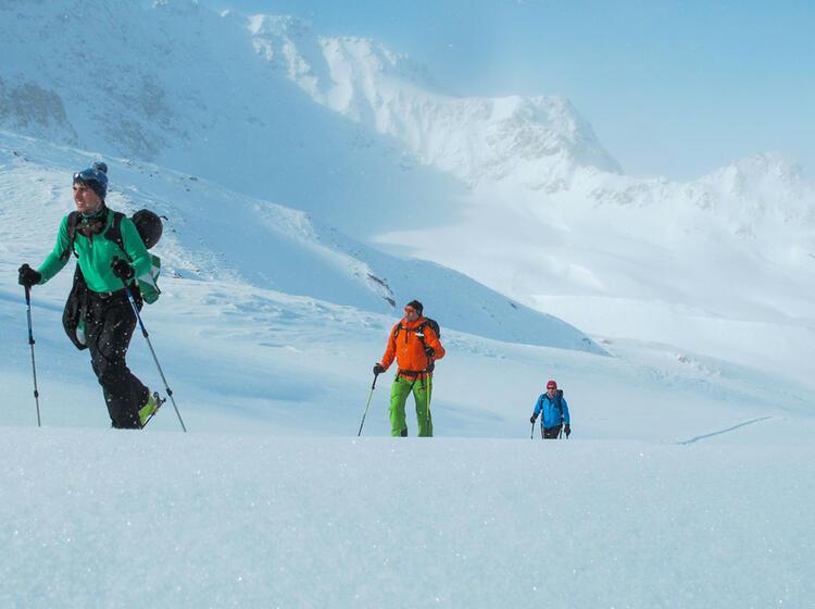 Orientierung Im Nebel Am Skitourenkurs