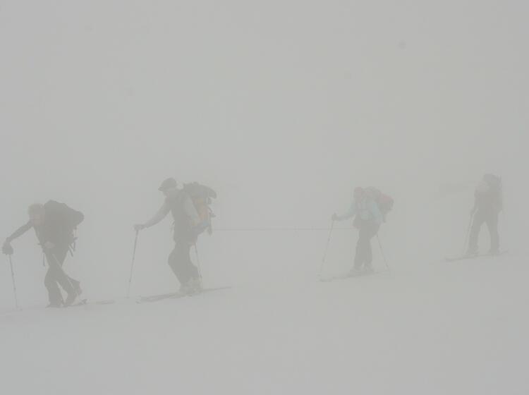 Orientierungsuebung Auf Der Haute Route Am Otemma Gletscher 2