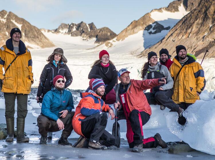 Packeis Auf Der Wanderung Spitzbergen