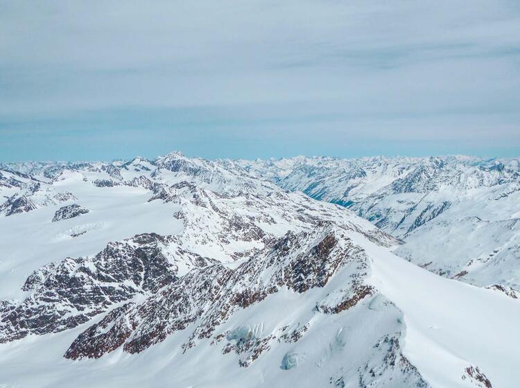Panorama Auf Der Venter Runde Skidurchquerung Im O Tztal