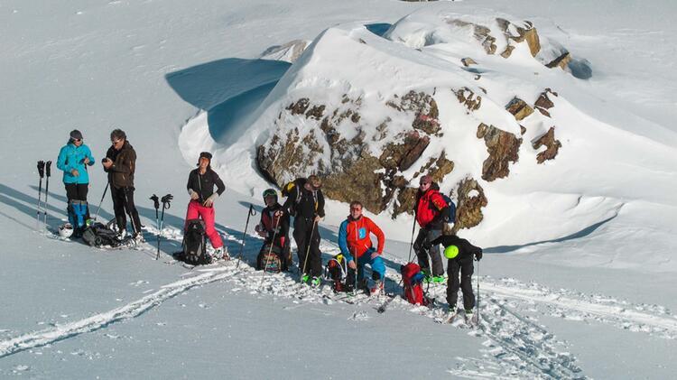 Pause Bei Den Skitouren An Silvester
