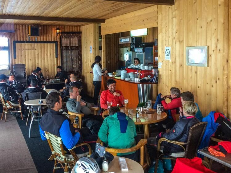 Pause Bei Der Skitouren Woche Montenegro