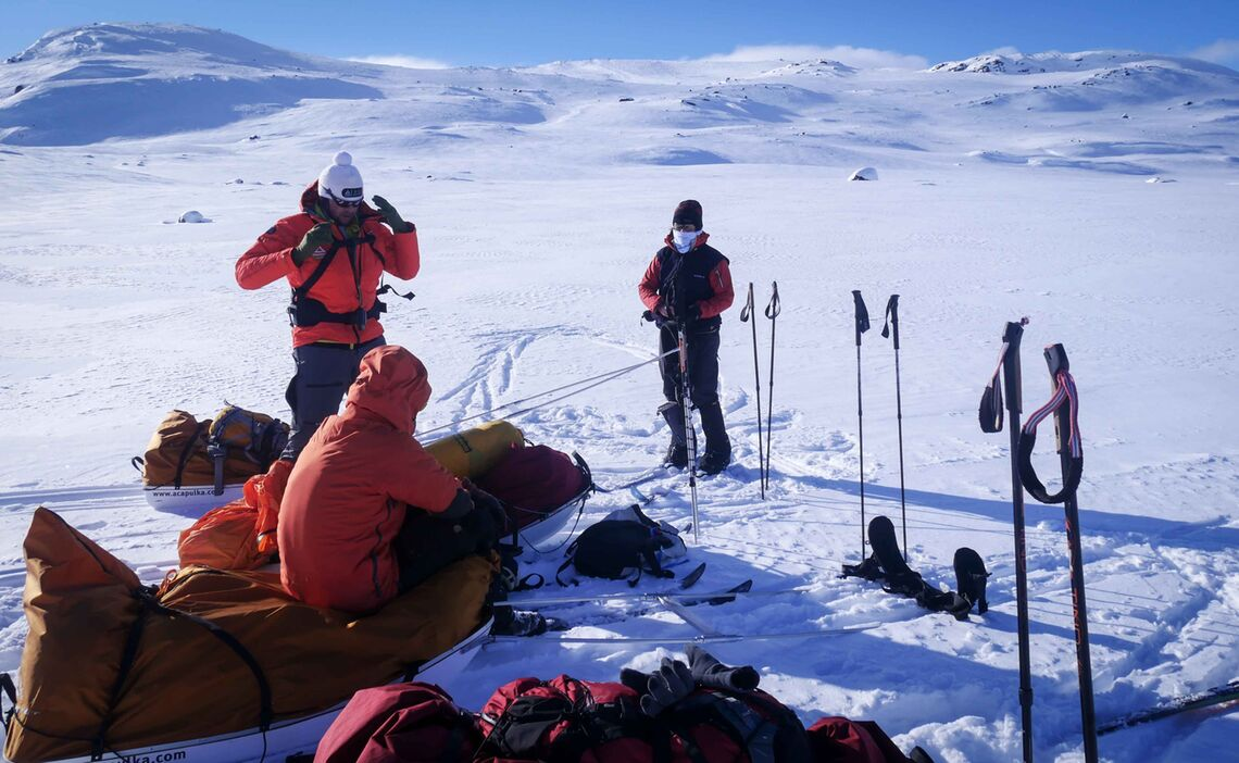 Pause Wa Hrend Dem Expeditionsvorbereitungskurs