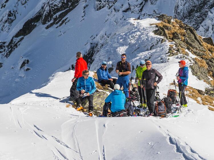 Pause Waehrend Der Skitouren Reise Rumaenien