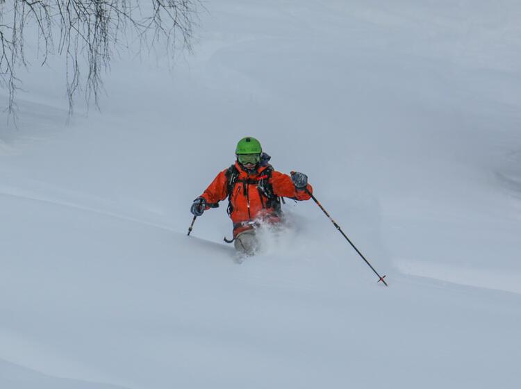 Perfekte Schneeverhaeltnisse In Den Altai Bergen In Sibirien