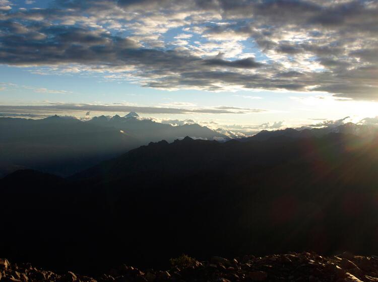 Peru Sonnen Horizont