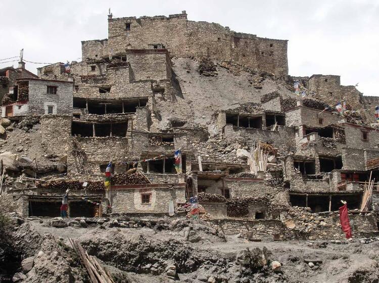 Phugong Tibetische Ortschaft Im Peri Himal