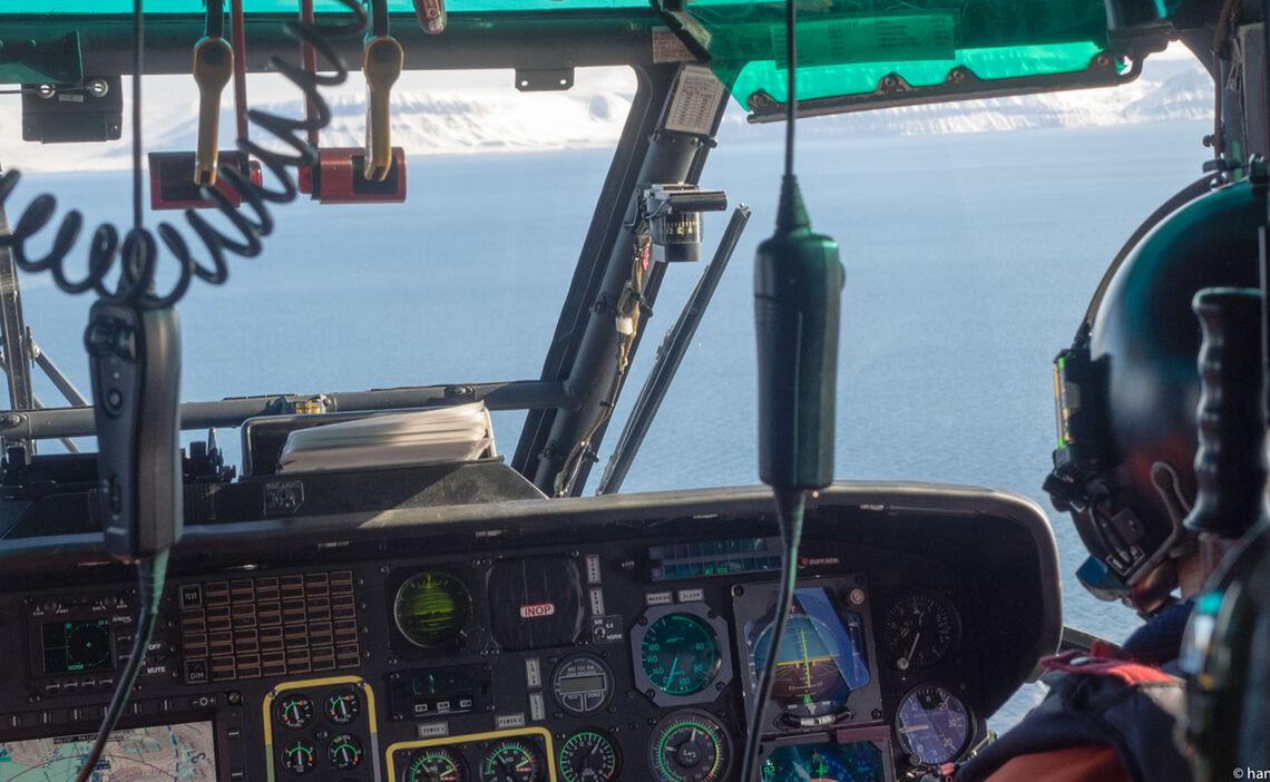 Polarcode Training Blick Aus Dem Sar Hubschrauber