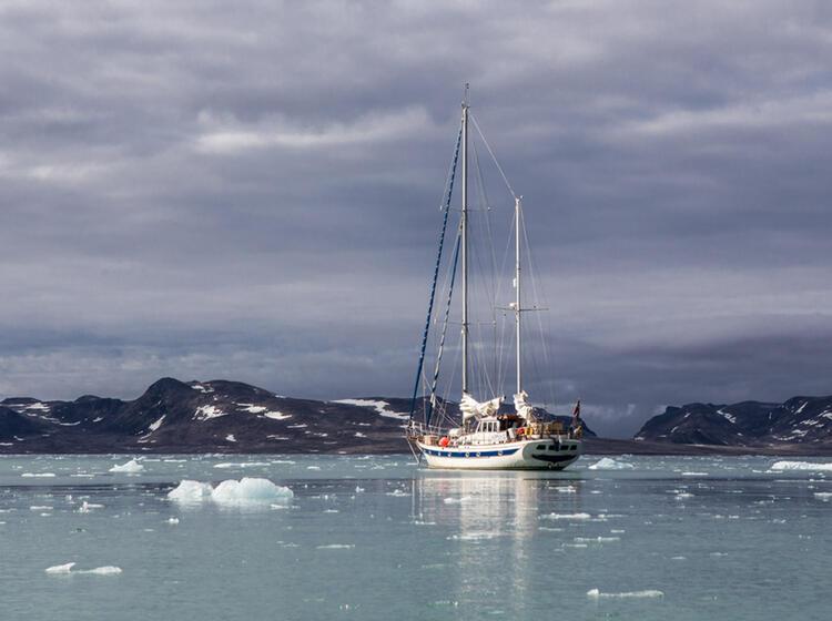 Privates Segelboot In Die Arktis Nach Spitzbergen