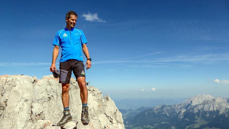 Ralph Hofmann Ist Bergwanderfuehrer Am Watzmann Hocheck Auf Der Watzmanntour Im Nationalpark Berchtesgaden