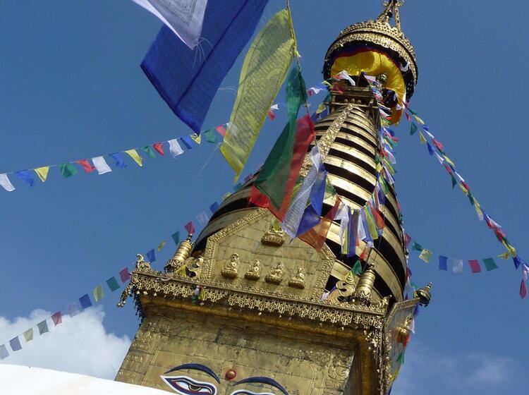 Religioeses Tibet Auf Der Expedition Zum Cho Oyu