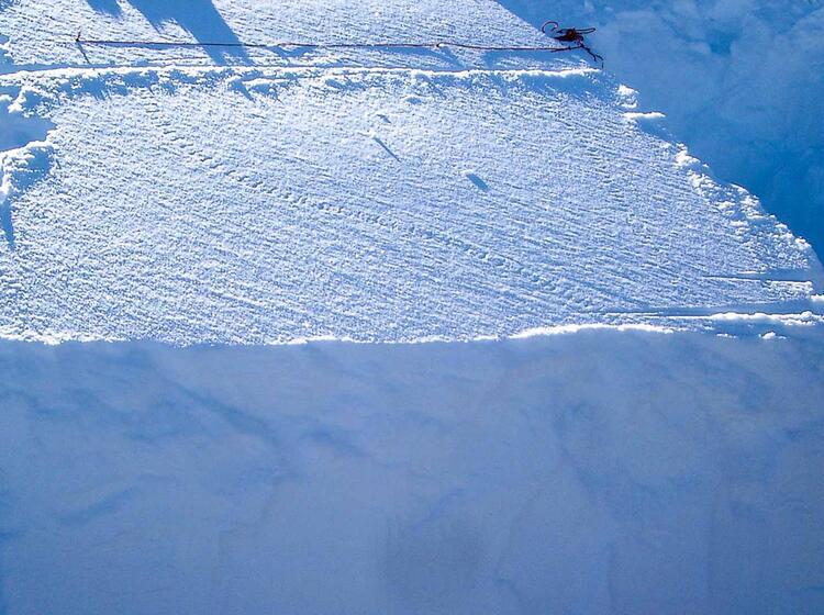Rutschblocktests Skitourenkurs