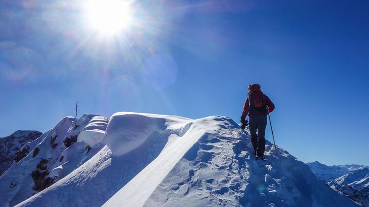 Schneeschuhtour Im Kleinwalsertal Vom Stu Tzpunkt Schwarzwasserhu Tte