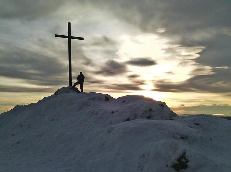Schneeschuhwandern Bayrischer Wald Gipfelerfolg