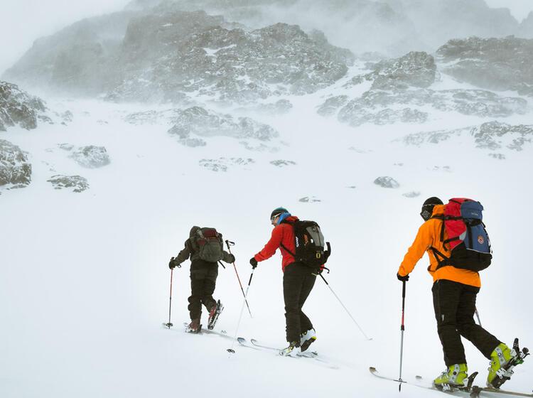 Schneetreiben In Marokko Auf Der Skitourenreise