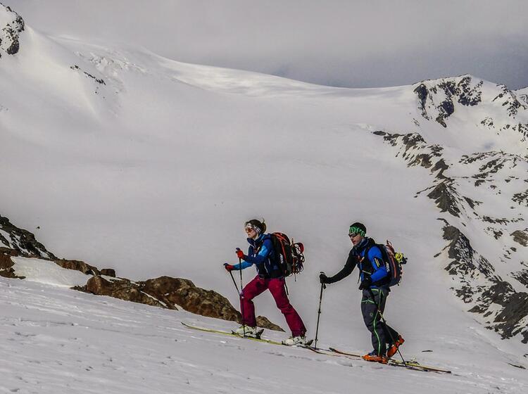 Skihochtour Cevedale Gefuehrt Durch Einen Bergfuehrer